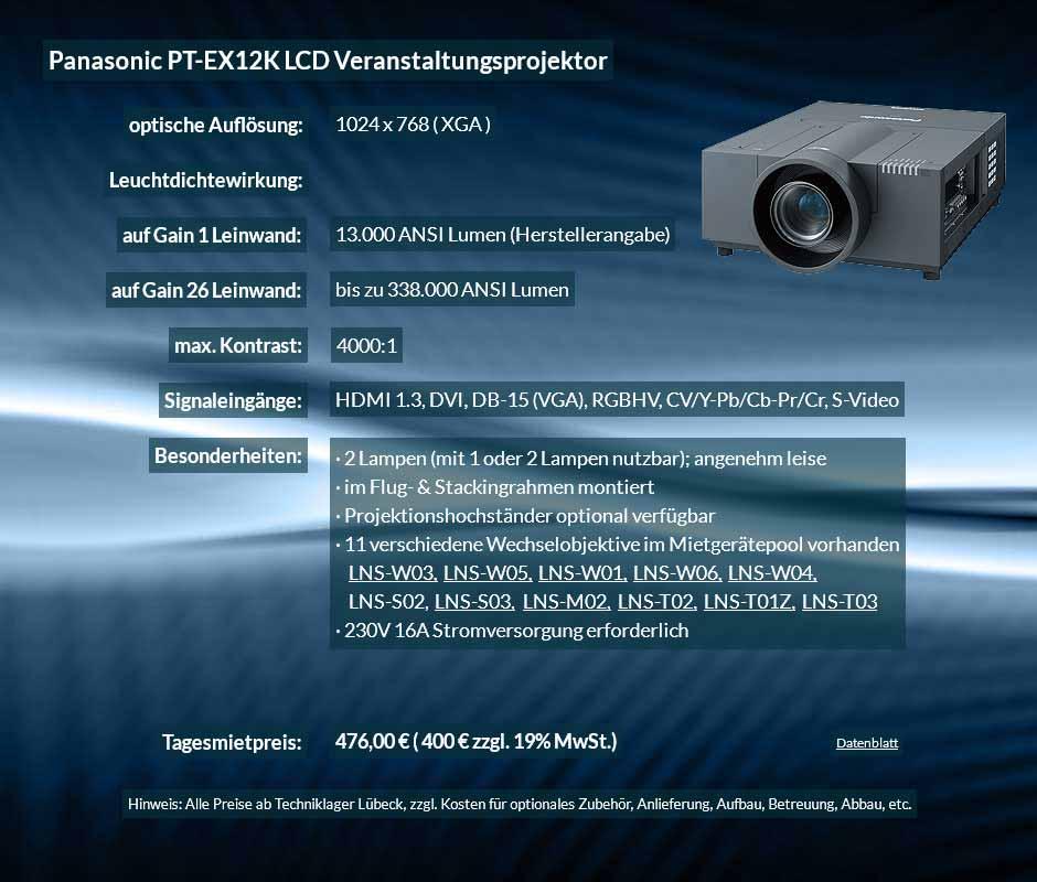 Anzeige für XGA Veranstaltungsprojektor mit 13.000 ANSI Lumen für 400 € zzgl. MwSt. inkl. Wechselobjektiv zur Auswahl LNS-W03, LNS-W05, LNS-W01, LNS-W06, LNS-W04, LNS-S02, LNS-S03, LNS-M01, LNS-M02, LNS-T02, LNS-T01